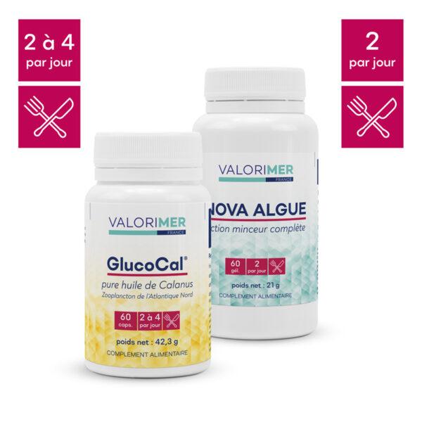 Pack minceur 1 Nova Algue® + 1 GlucoCal® 1
