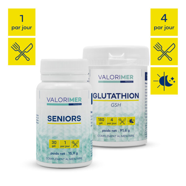 Pack Protection 1 Glutathion + 1 Seniors 1