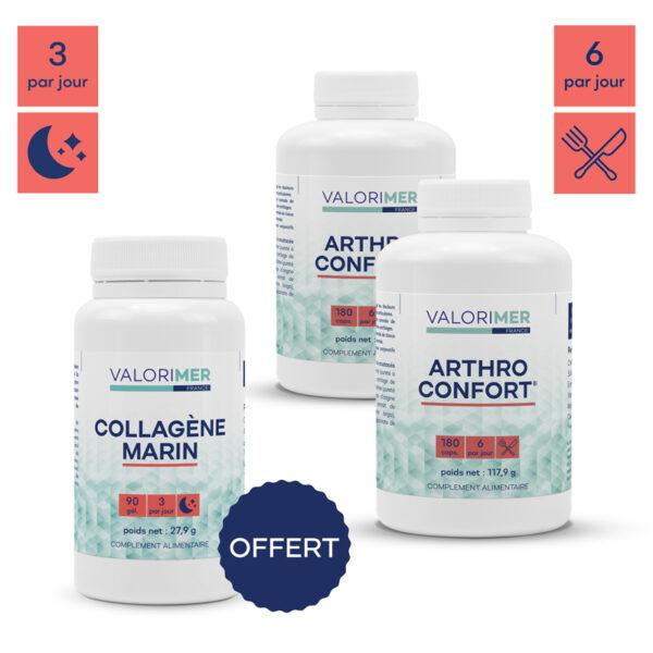 Pack souplesse : 2 Arthro confort + 1 collagène OFFERT 1